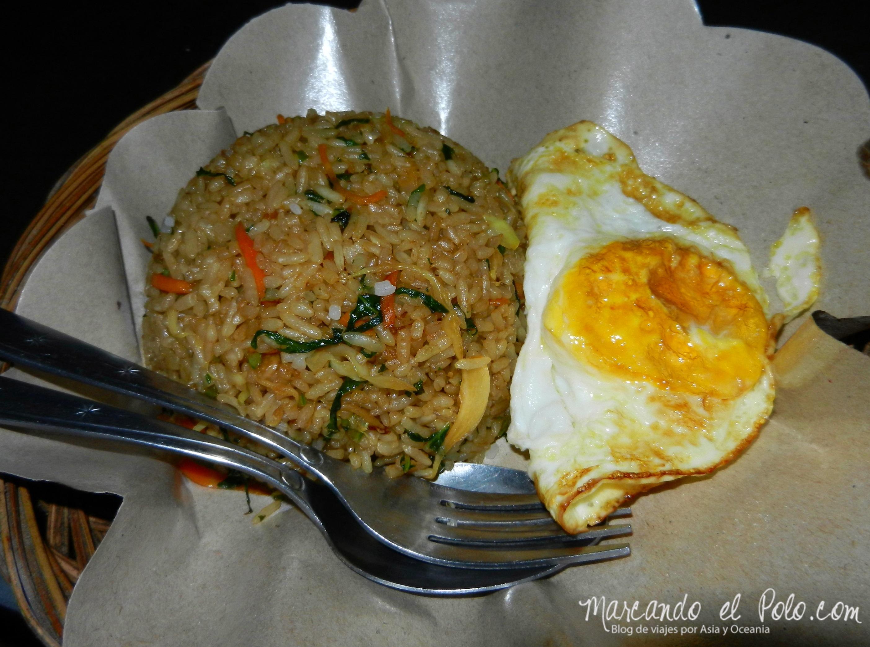 Comida de Indonesia - nasi goreng