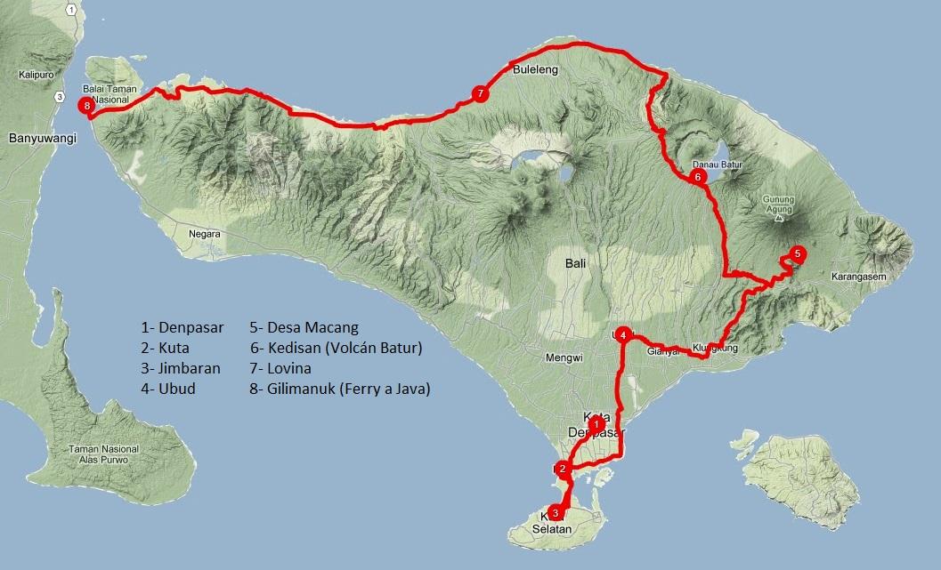 Itinerario Bali (clíck para agrandar)