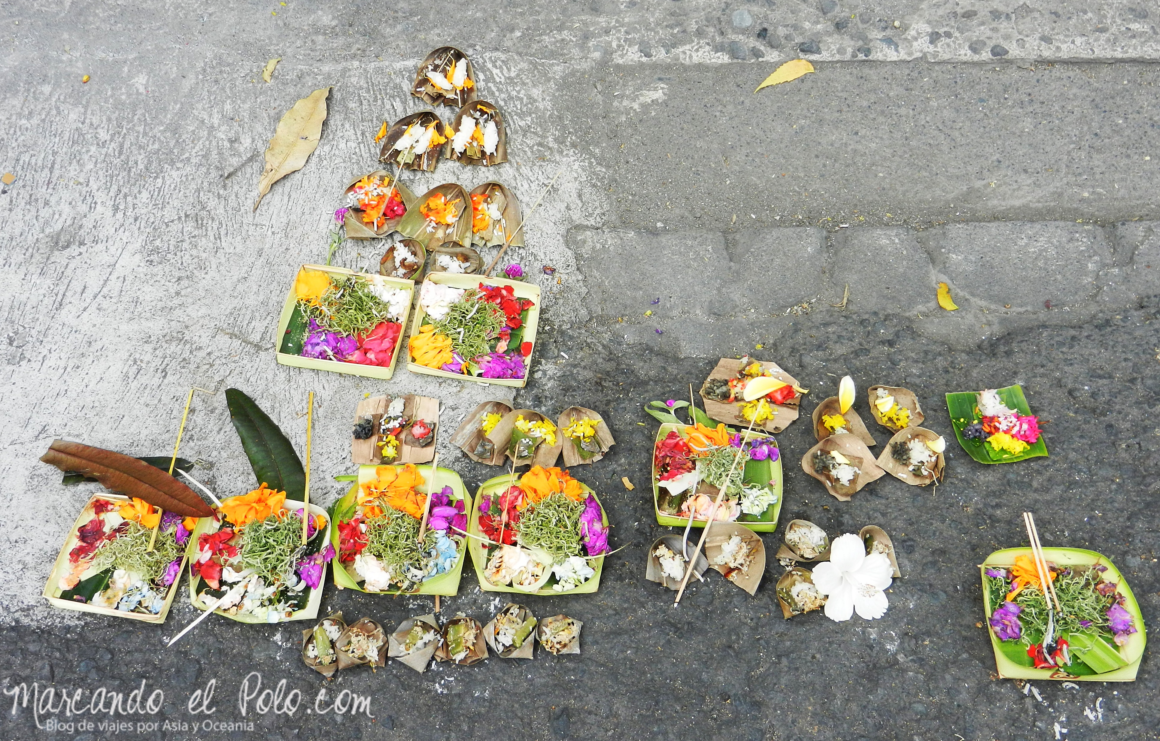 Ofrendas, Galungan, Bali, Indonesia