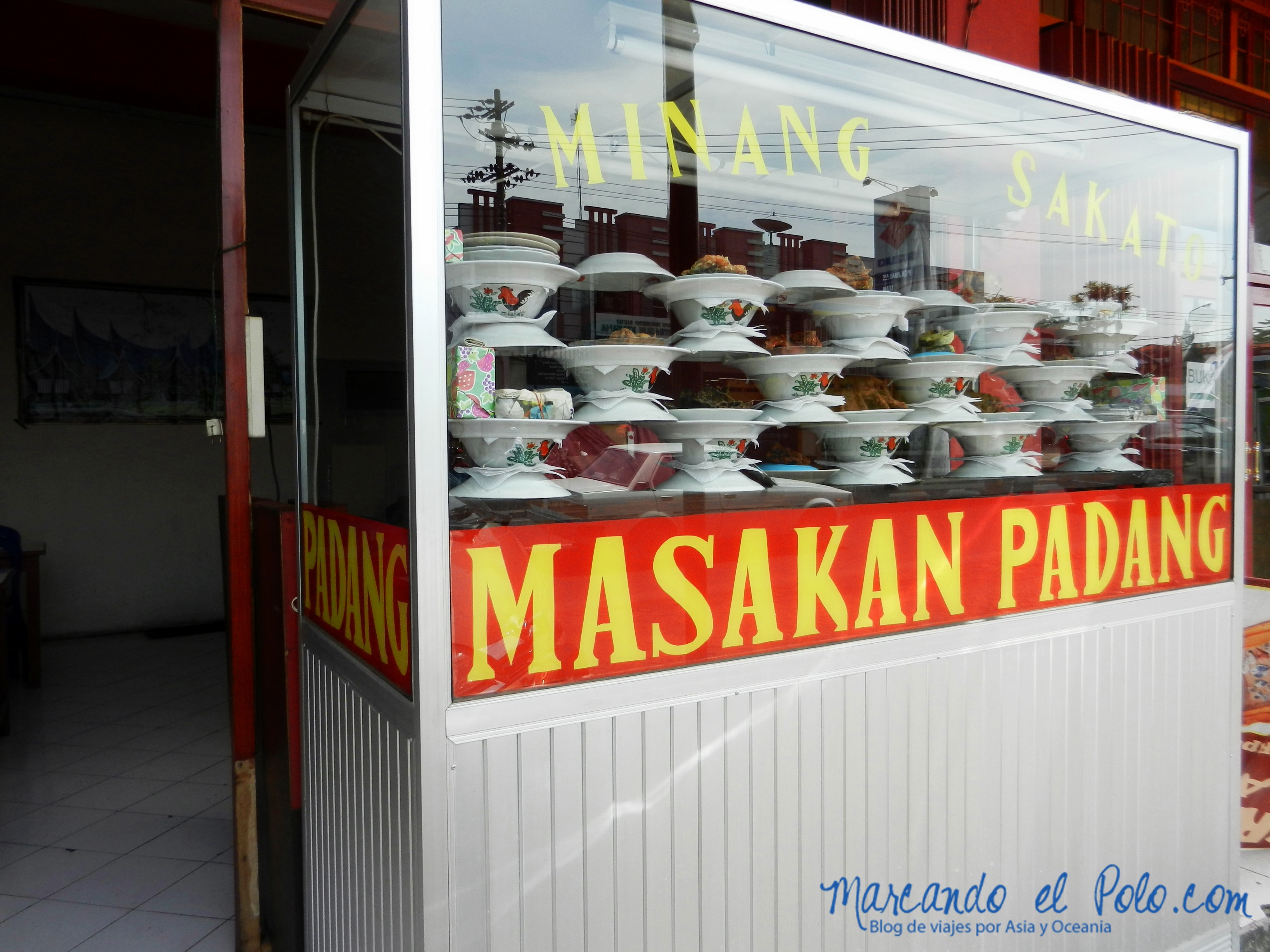 "Los ""masakan Padang"", tan populares en Sumatra"