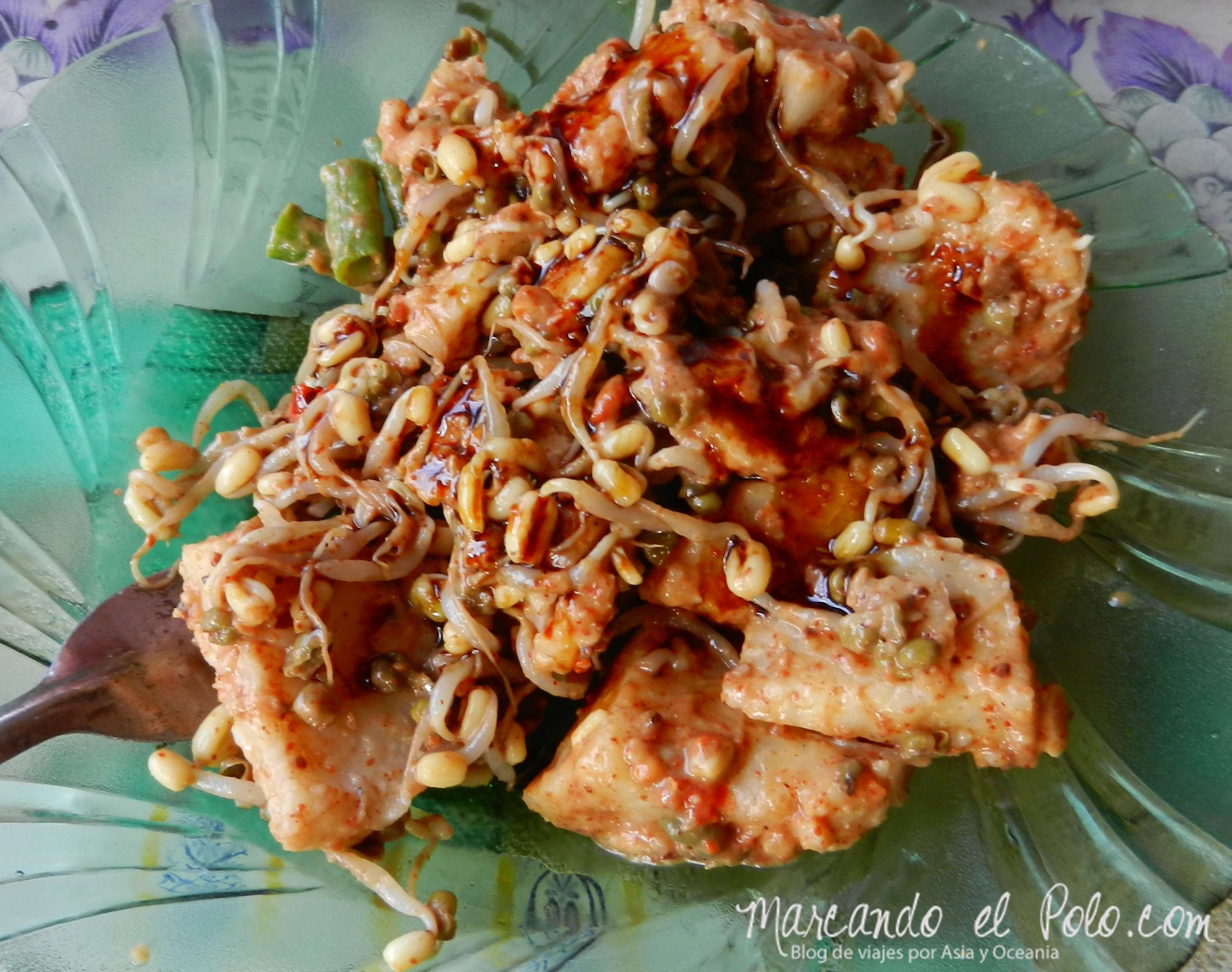 Comida de Indonesia - pecel