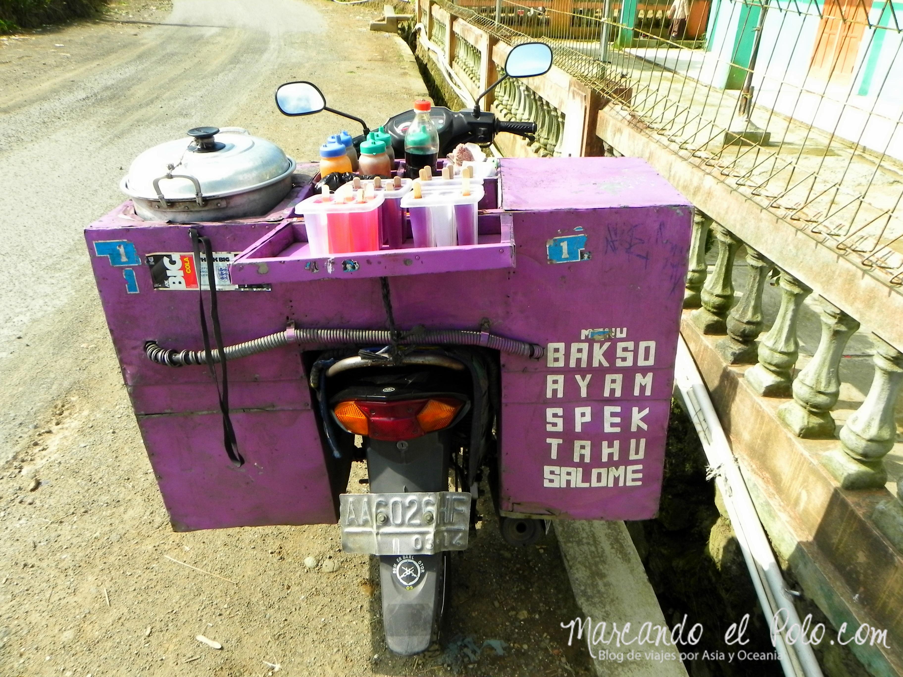 Comida de Indonesia - moto de comida callejera