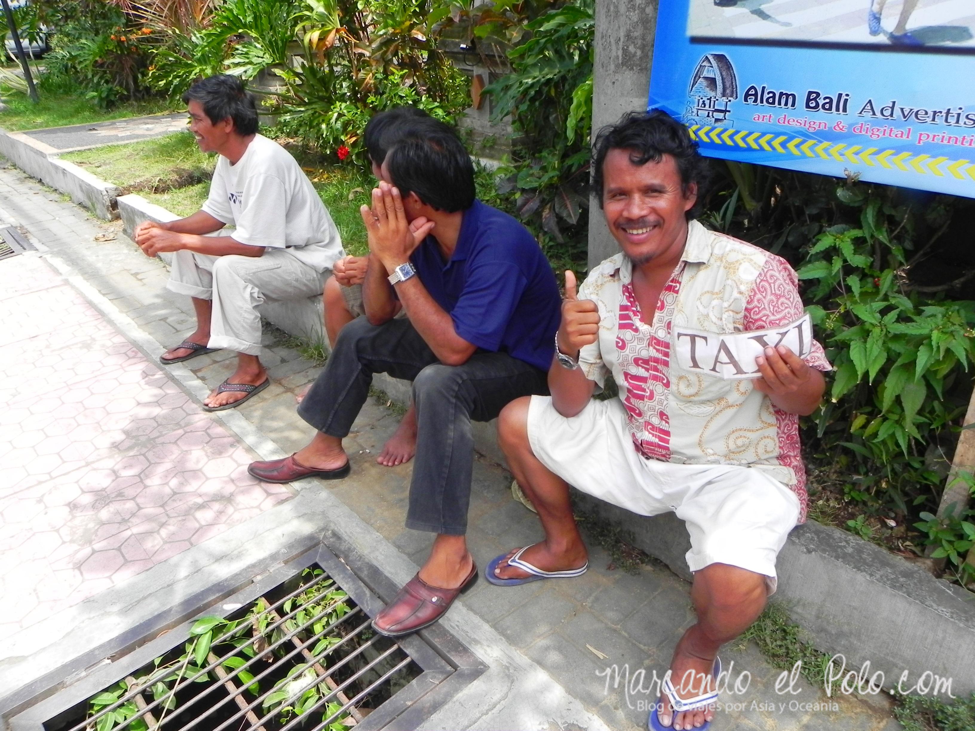 Qué ver en Bali - Ubud taxistas