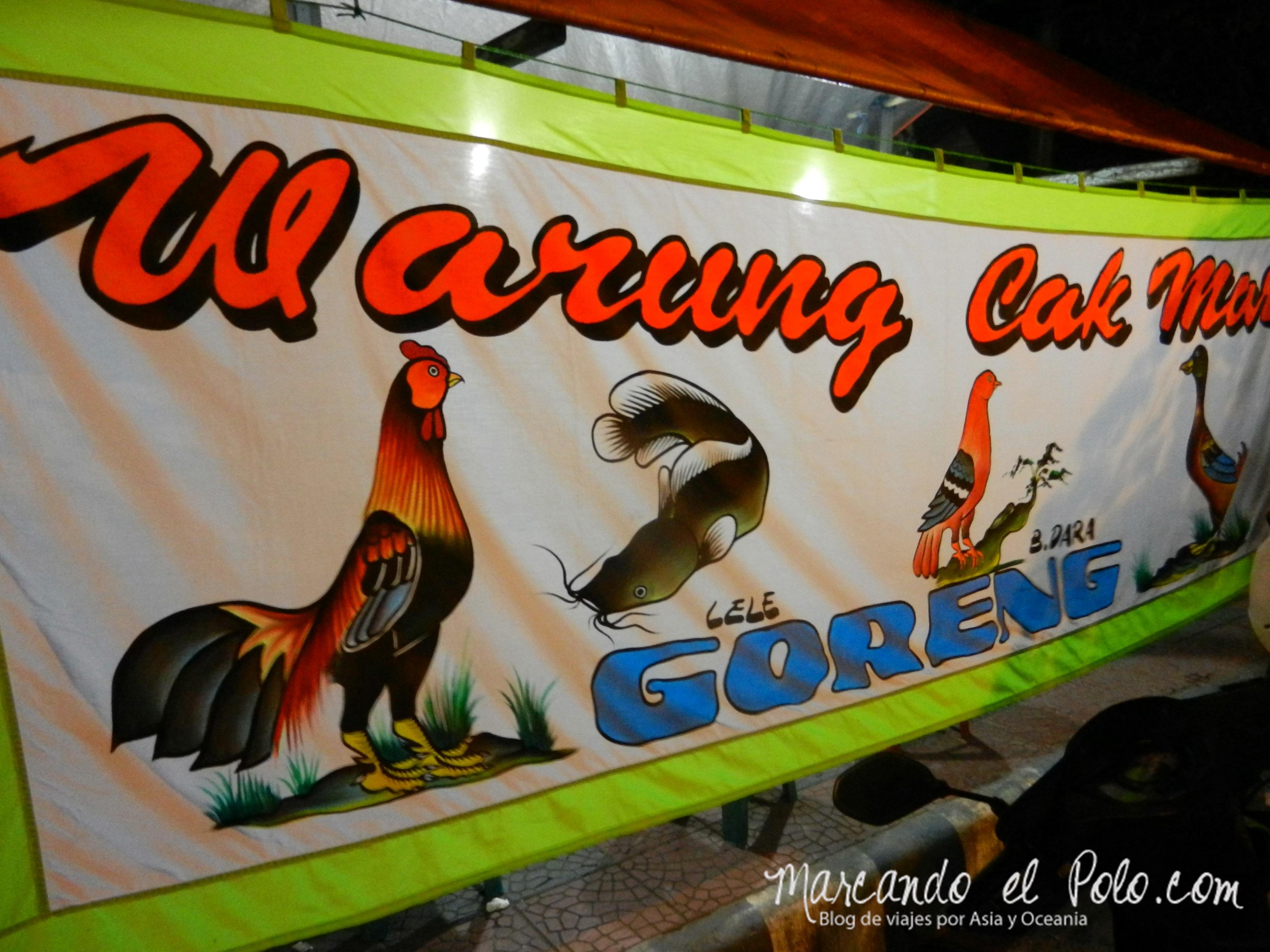 Comida de Indonesia - carne de paloma