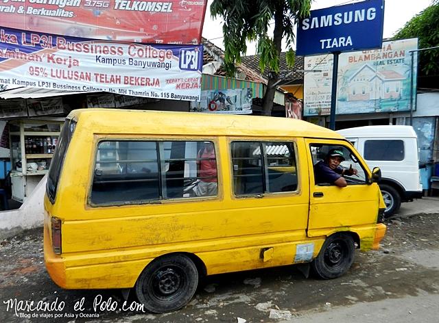 Presupuesto mochilero Indonesia - Transporte publico bemo