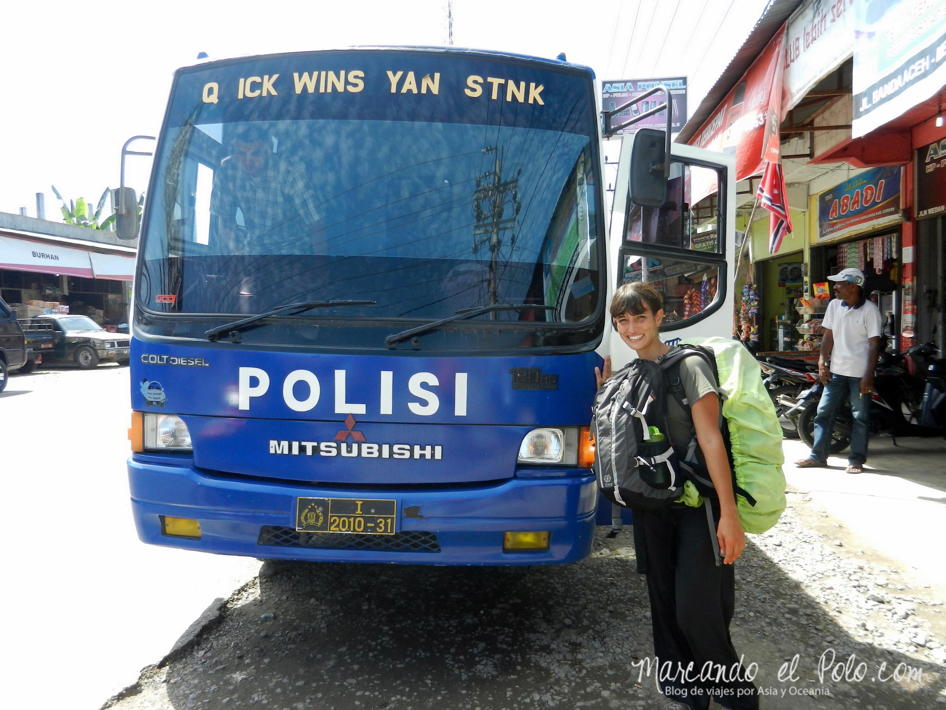 ¡Con la policía también pudimos ir!
