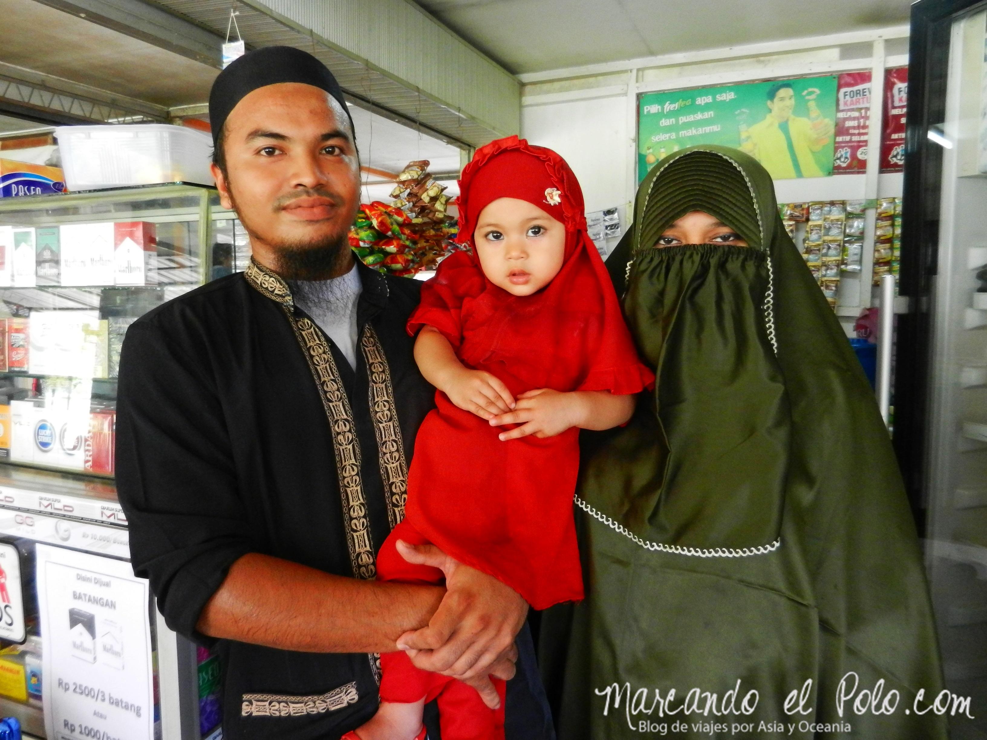 Familia musulmana, Banda Aceh, Indonesia