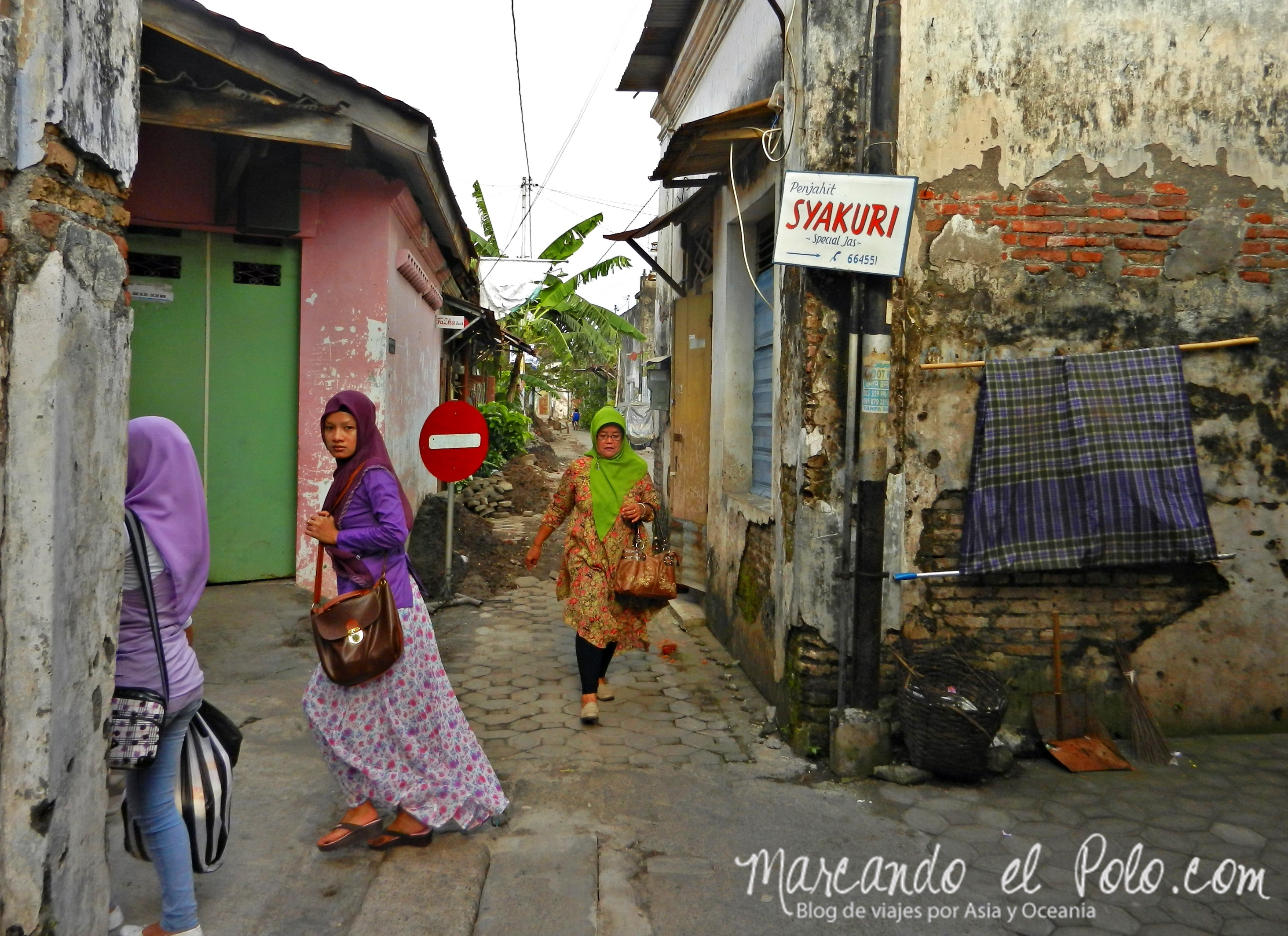 Mujeres musulmanas en Solo.