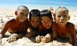 Nenes en Pagudpud, Filipinas