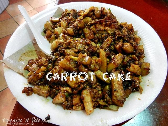 Comida de Singapur - Carrot cake