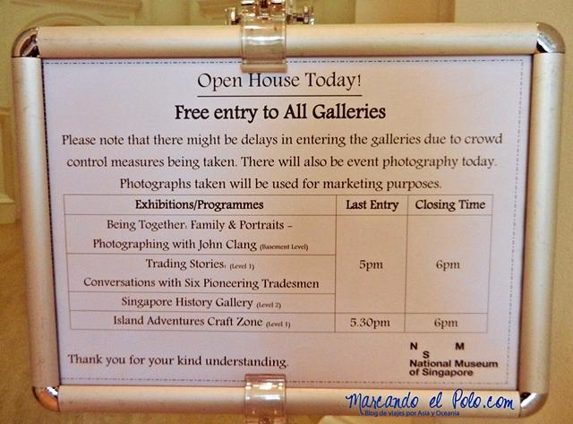 """Cosas gratis en Singapur - """"Open House"""" en museos"""