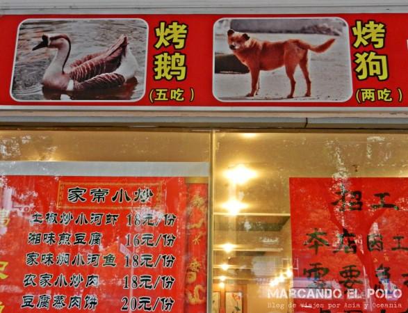 Carne de perro - Guilin, China