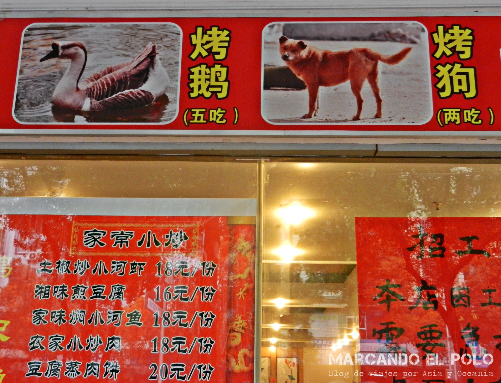 Carne de perro - Guilin, China