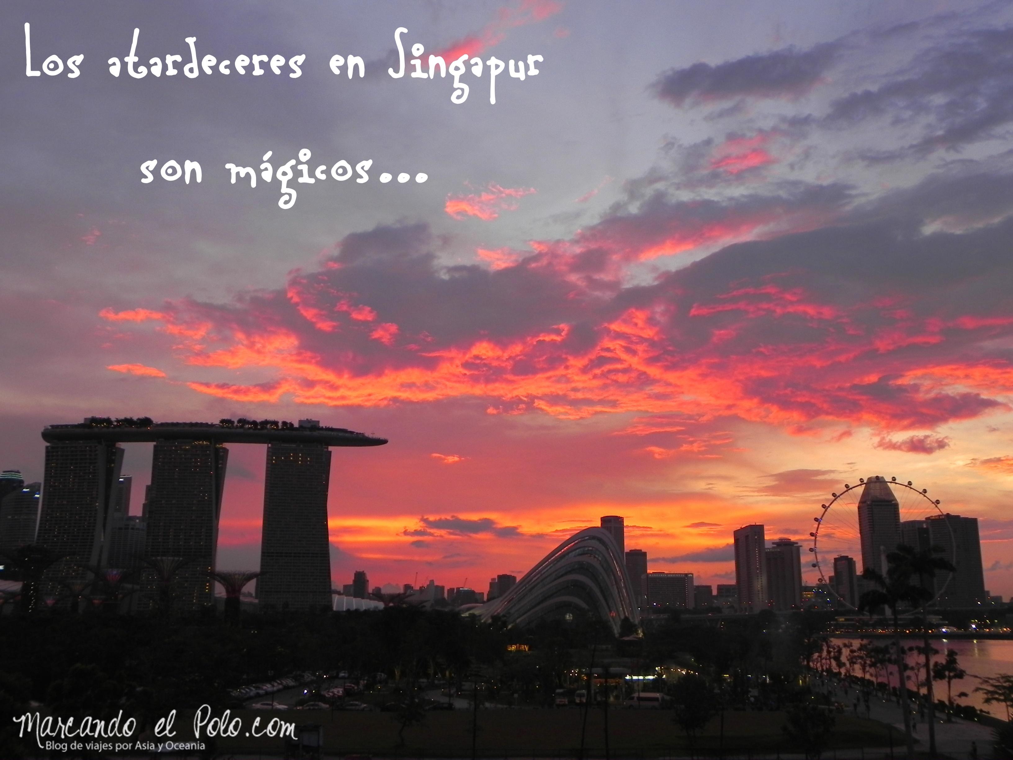Atardecer en Singapur, Asia