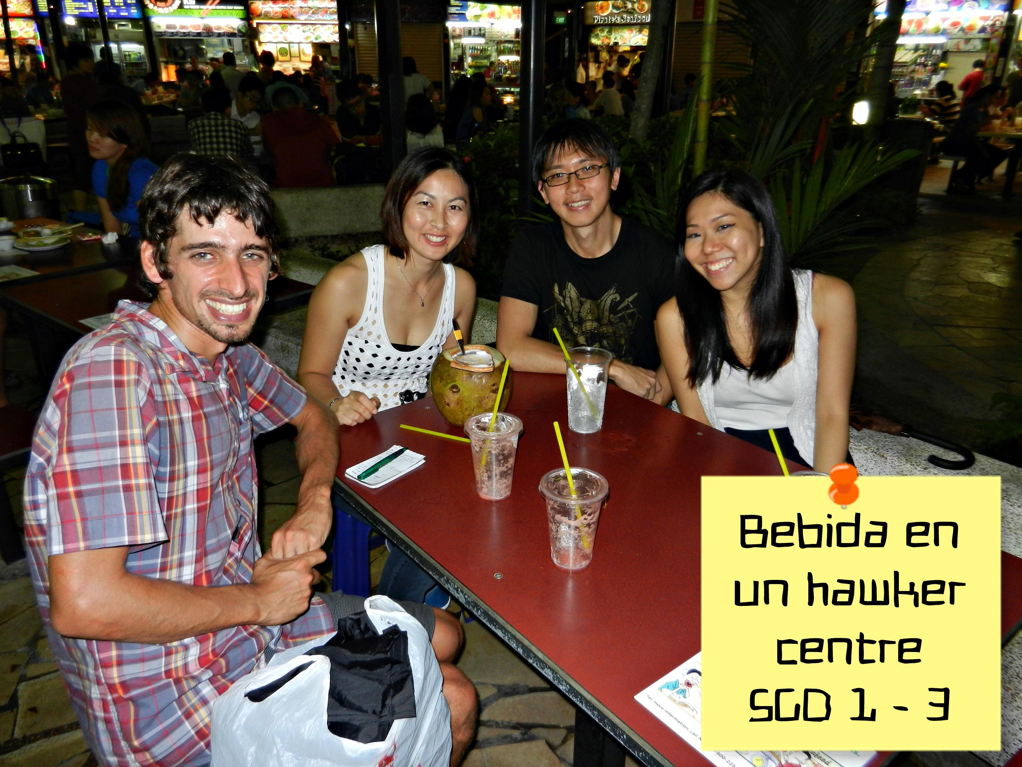 Bebida en Hawker centre, Singapur, Asia