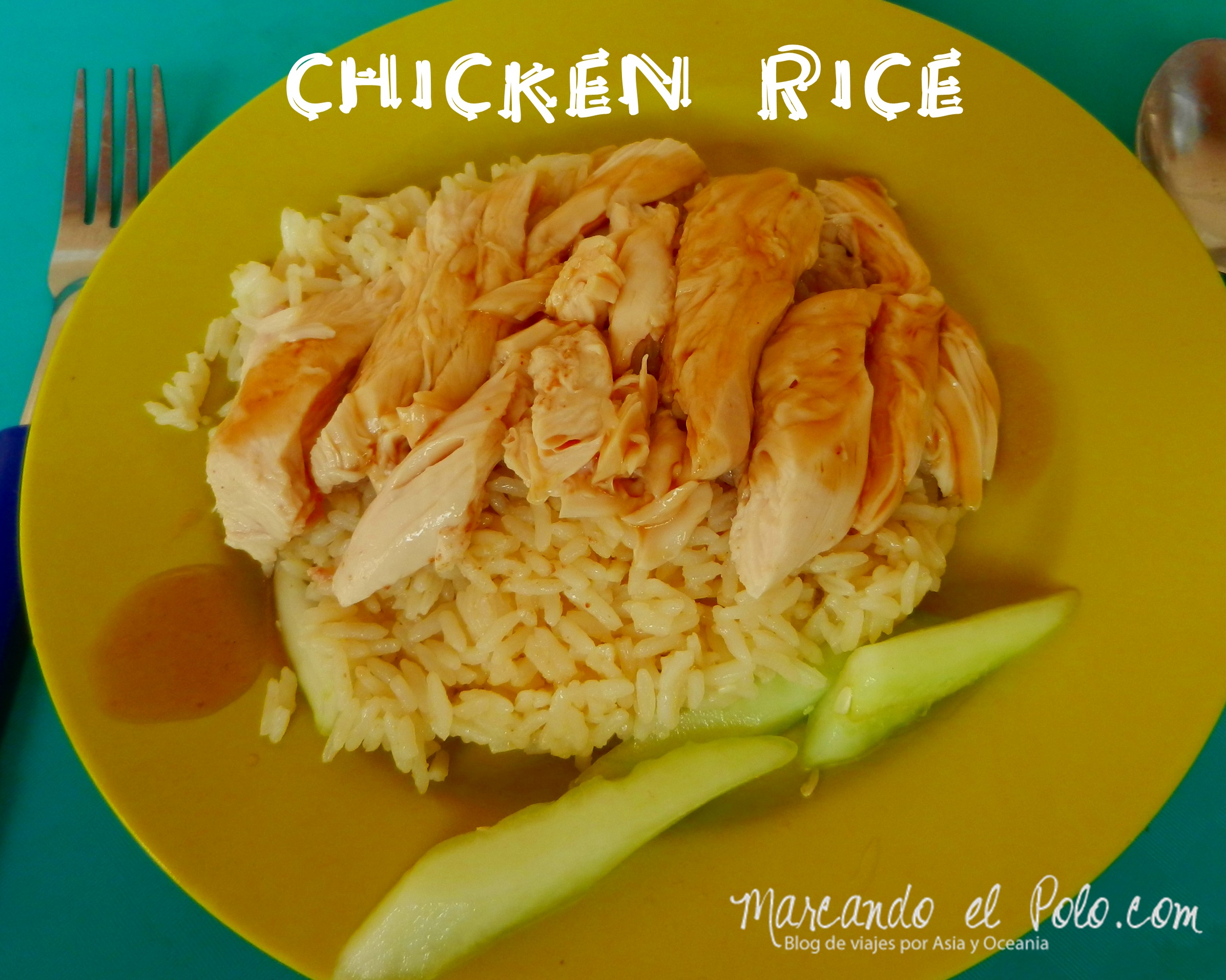 Chicken rice en Singapur