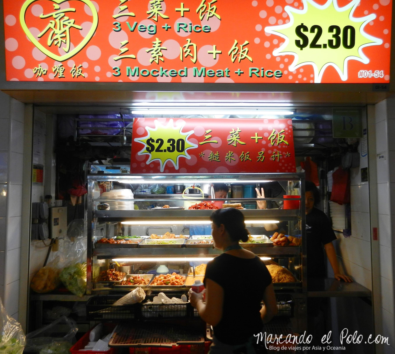Comida barata en Singapur, Asia