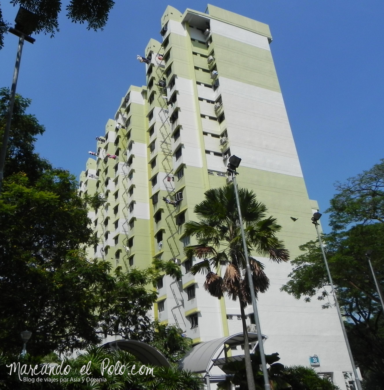 Uno de los tantos HDB Buildings de la ciudad, Singapur