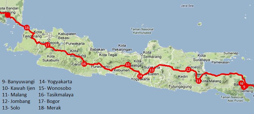 Viajar a Indonesia. Itinerario Java.