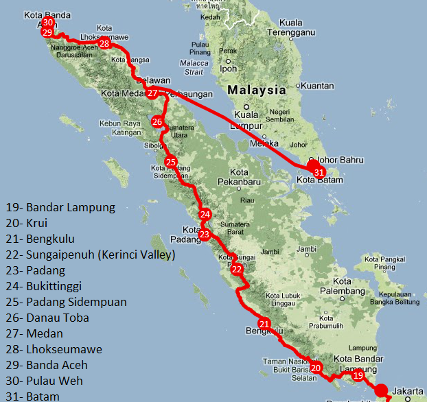 Viajar a Indonesia - Itinerario Sumatra