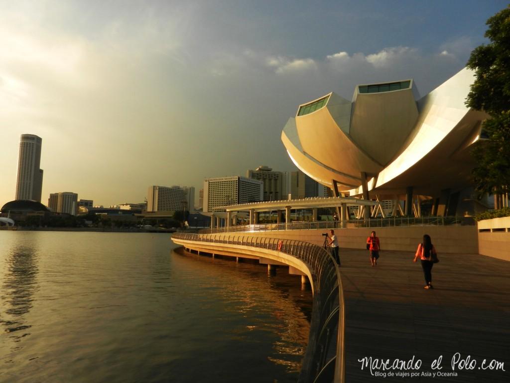 Marina Bay al atardecer, Singapur