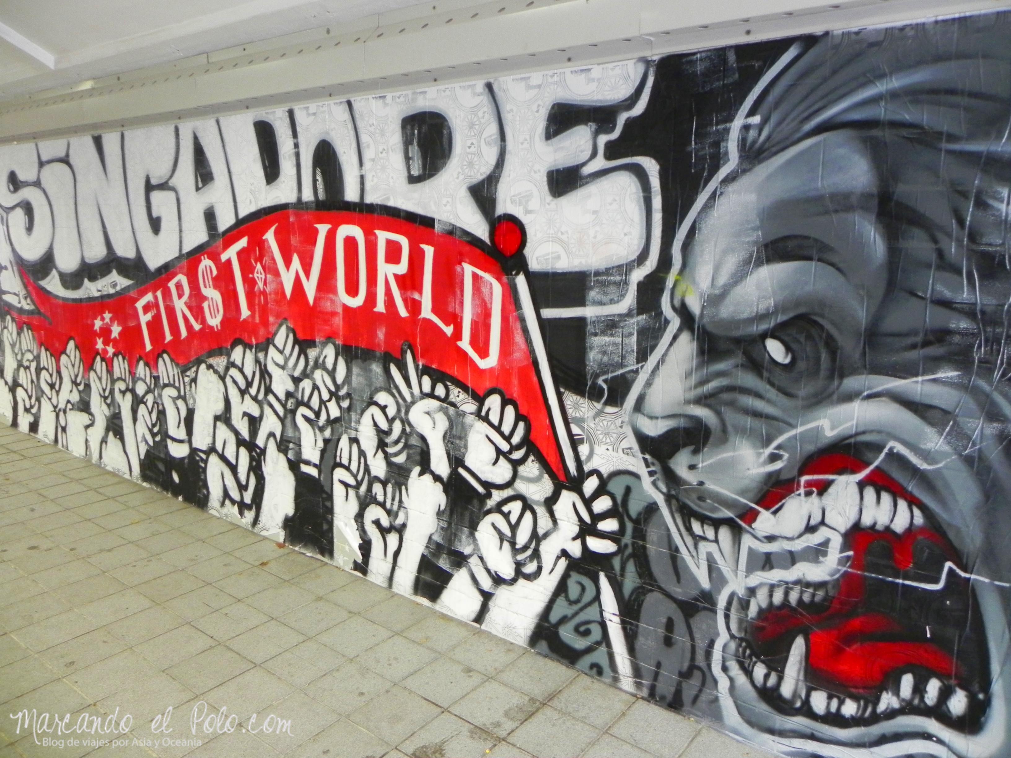 Mural en Singapur, Asia
