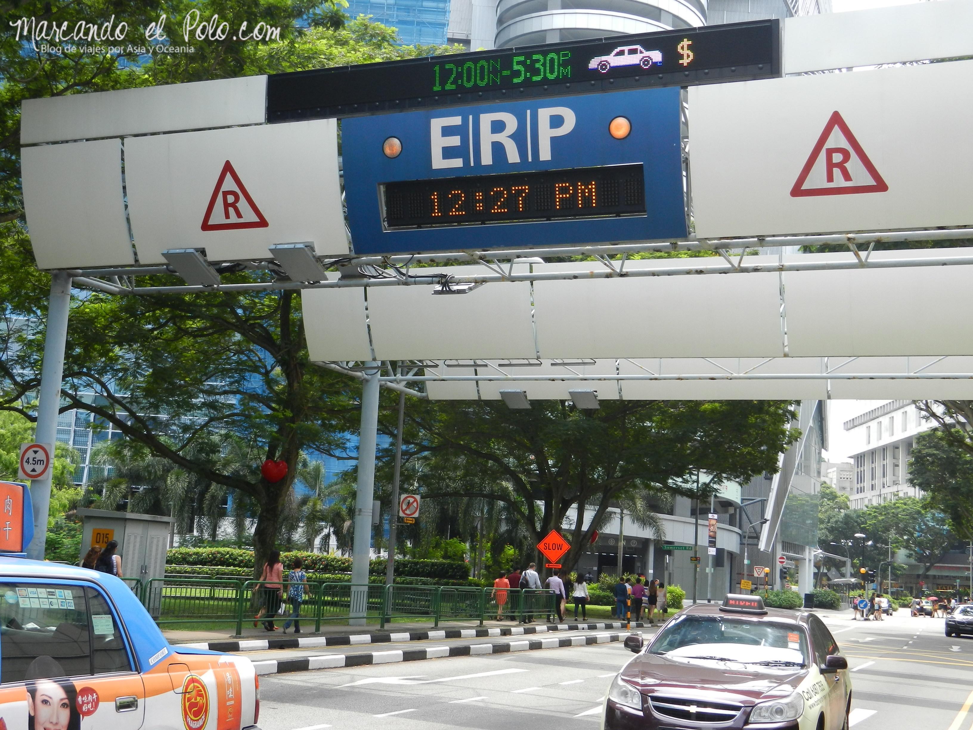 Peaje en Singapur, Asia