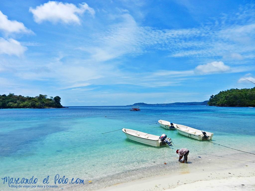 Las playas de Pulau Weh, a sólo unos minutos de donde estaban cuidando la casa.