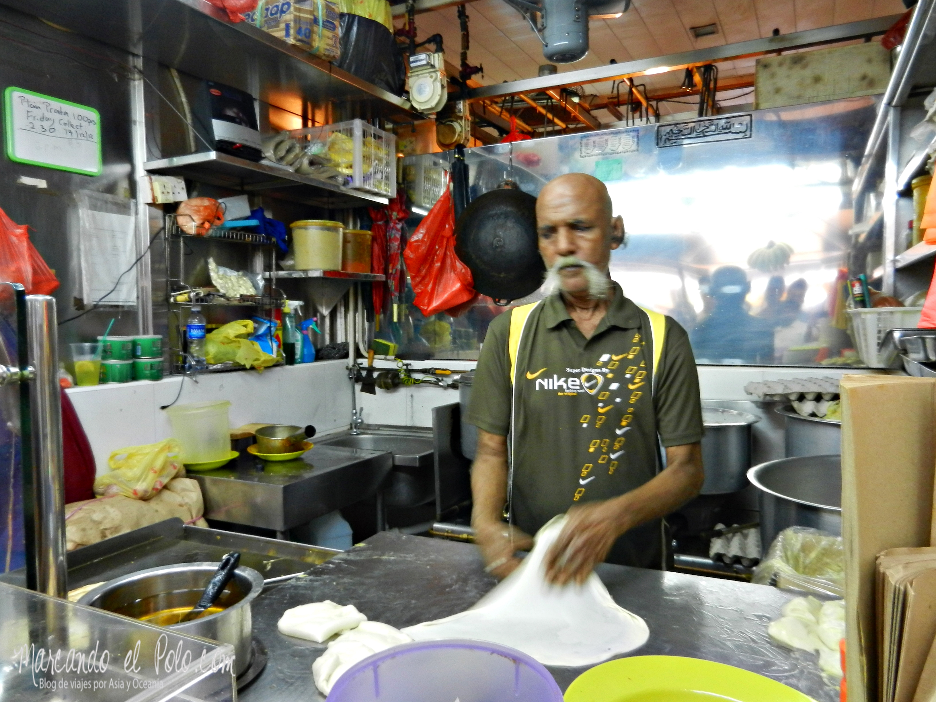 Roti en Little India, Singapur, Asia
