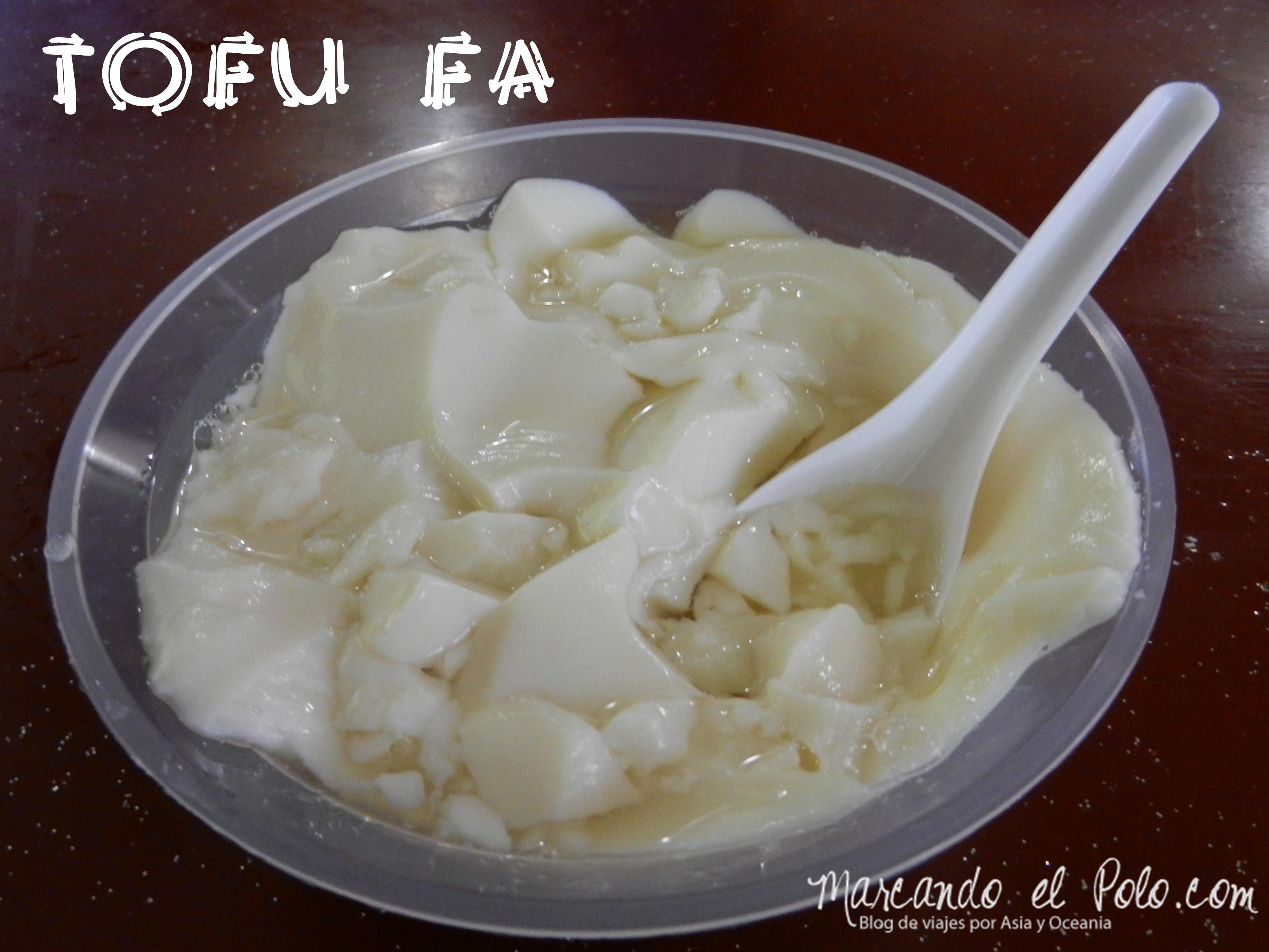 Tofu fa en Singapur