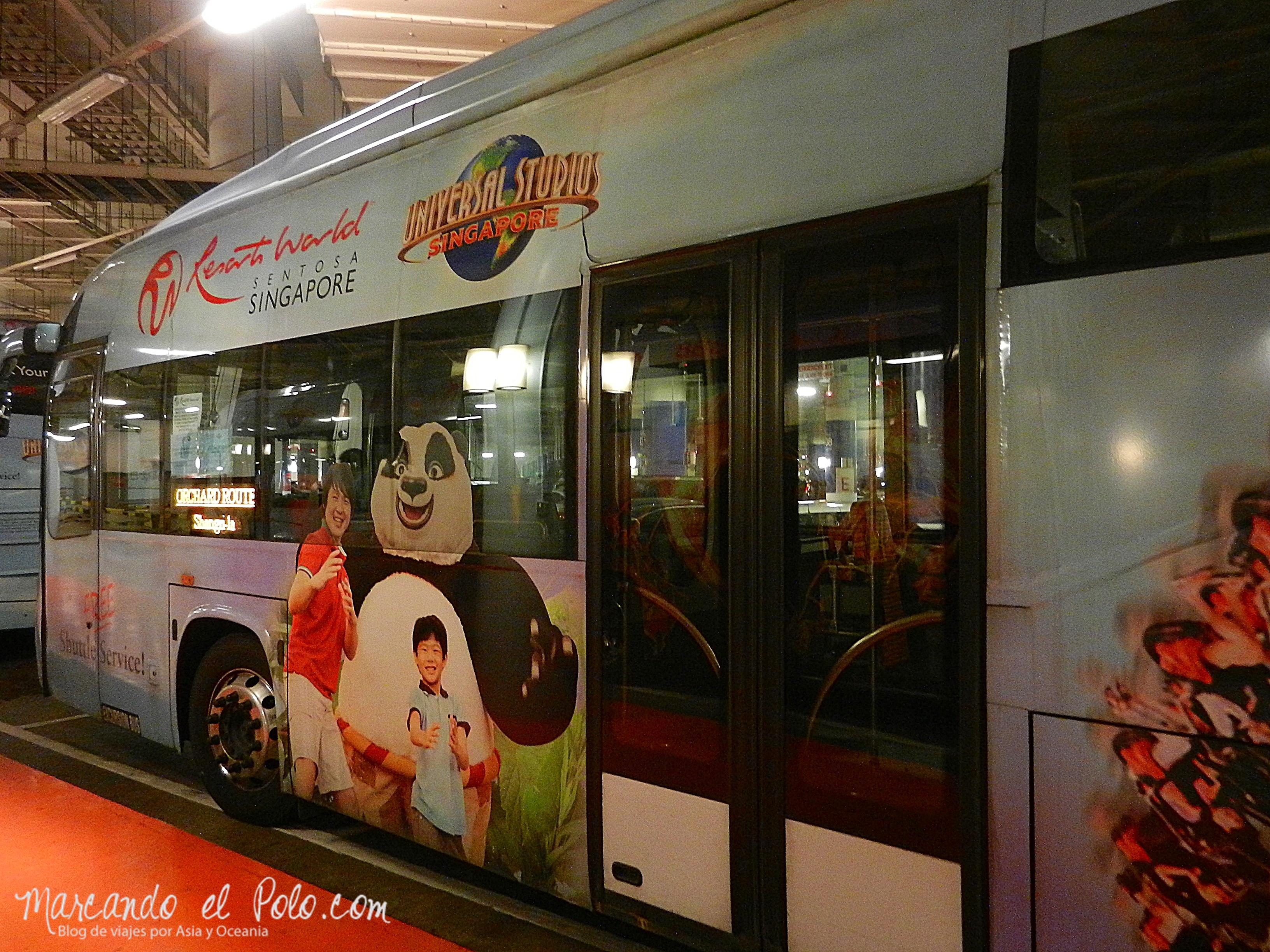 Bus gratis a Sentosa. Singapur