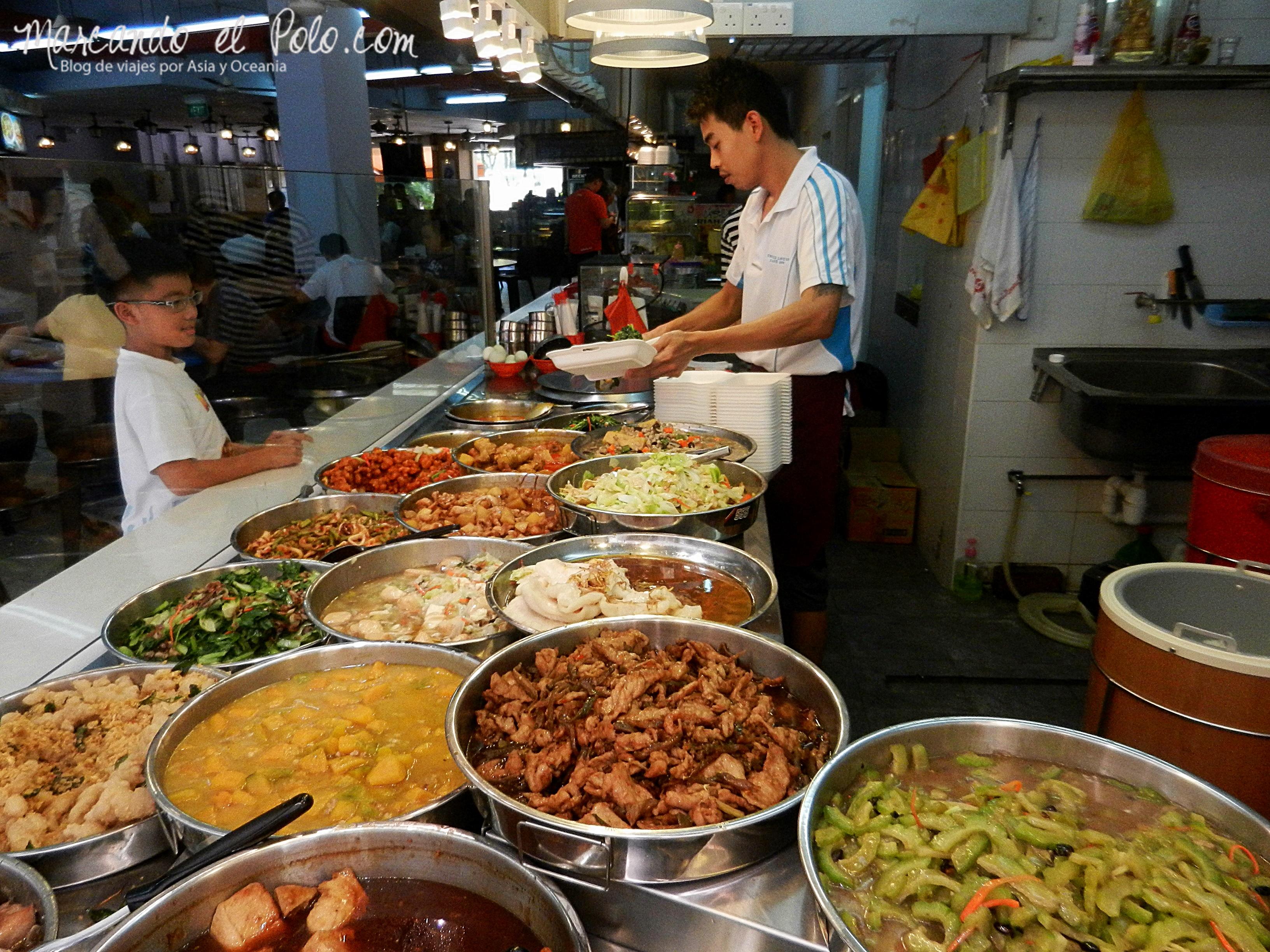 Variedad de comida en Singapur