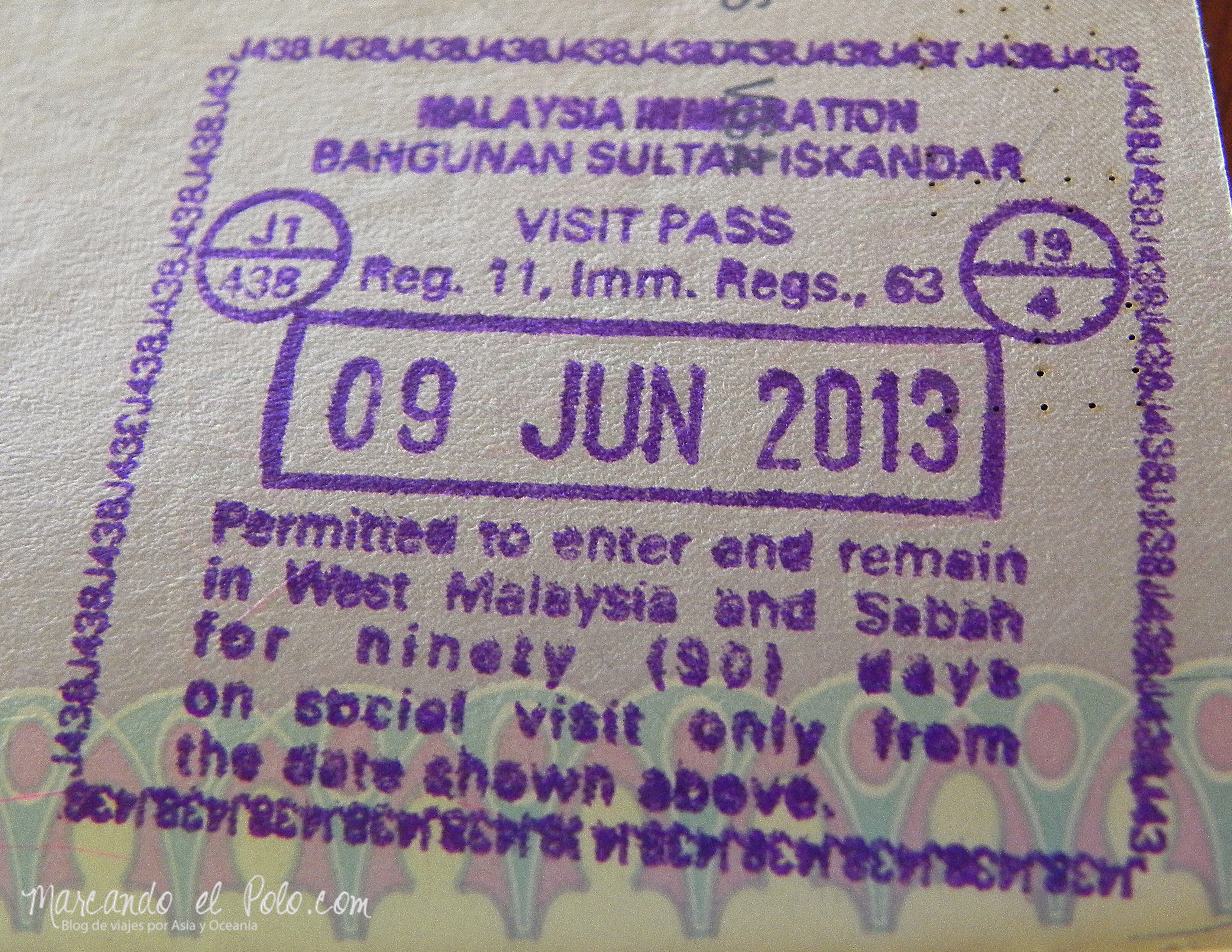 Visa para viajar a Malasia