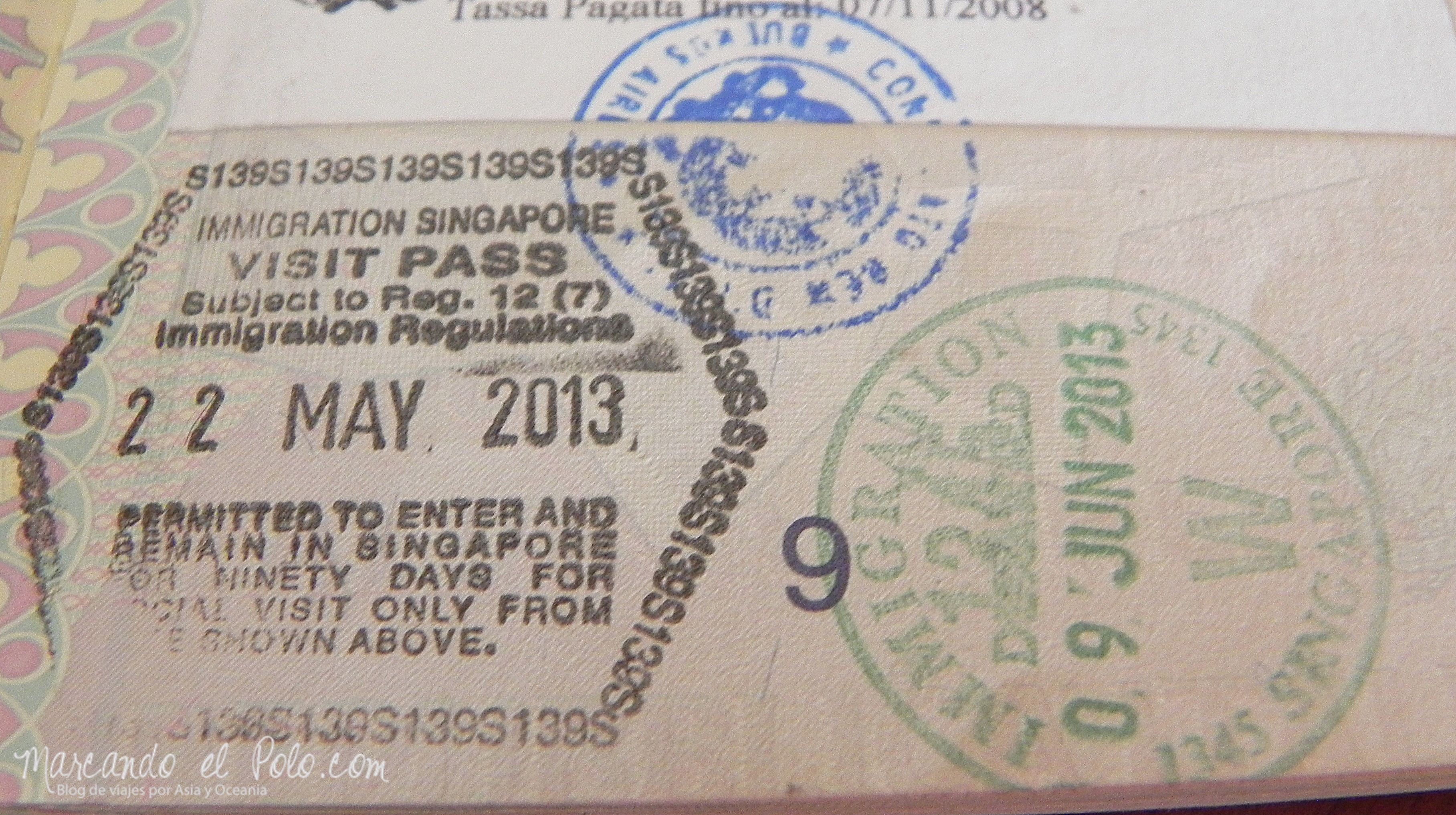 Viajar a Malasia y Singapur - Visa para Singapur