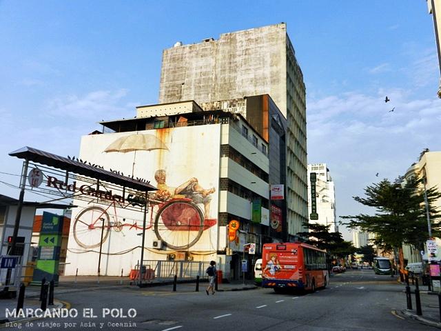 Arte callejero de Penang - Trishaw man