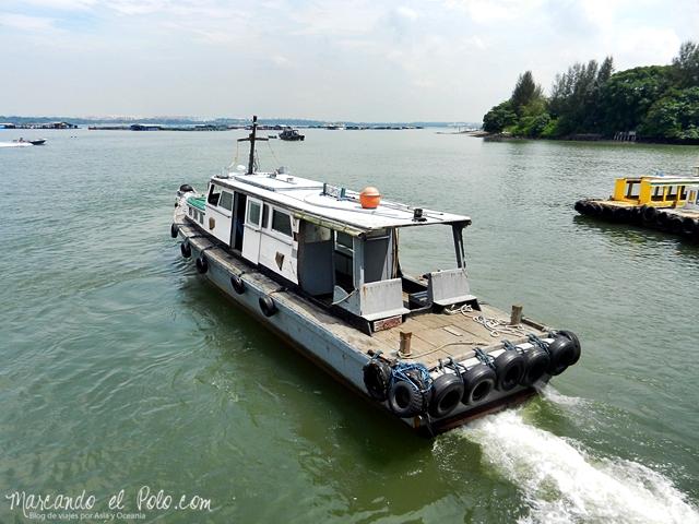 Presupuesto Singapur - Barco Pulau Ubin
