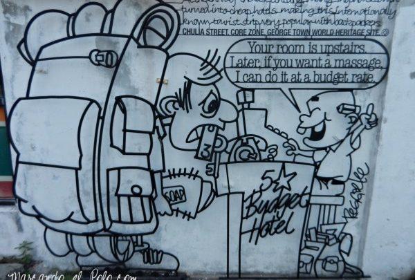 Viajar a Malasia: arte callejero en Penang