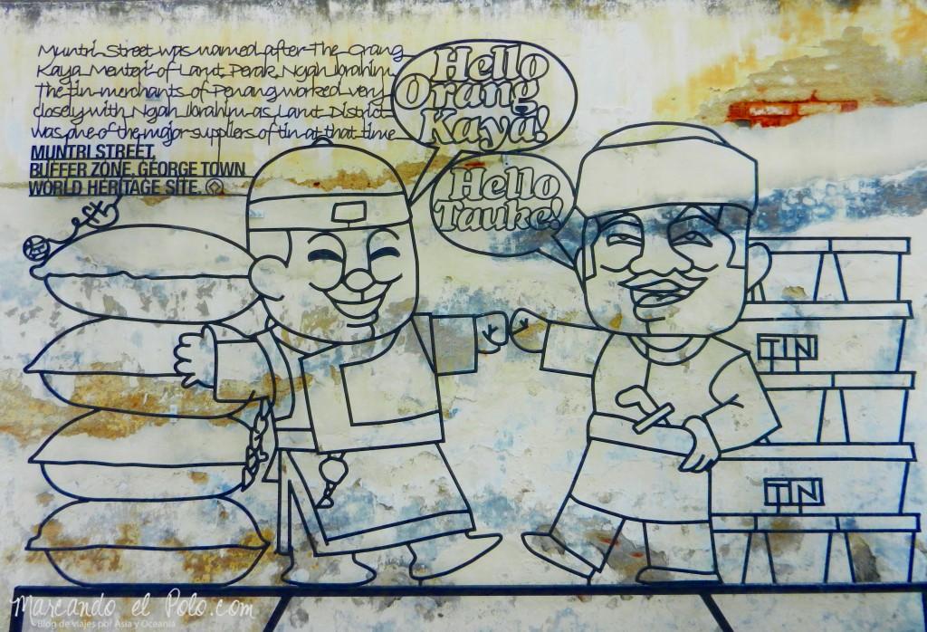 Arte callejero Penang, Malasia 10