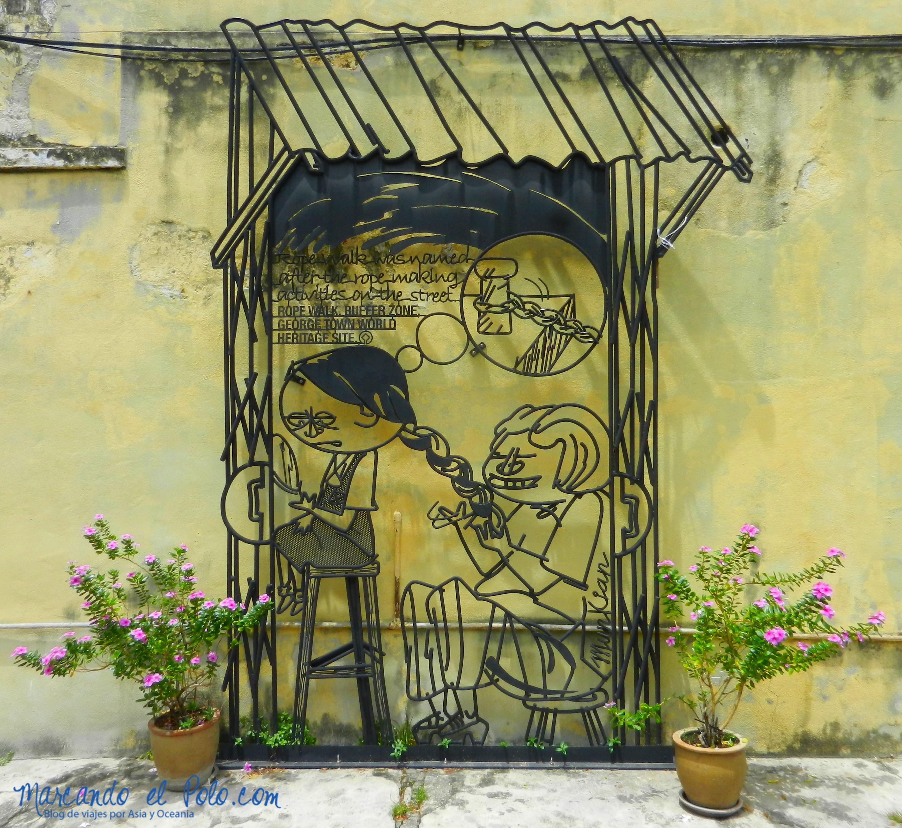 Arte callejero Penang, Malasia 11