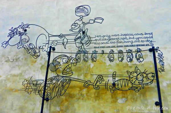 Arte callejero Penang, Malasia 12