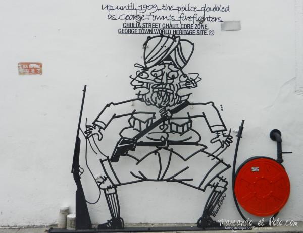 Arte callejero Penang, Malasia 16