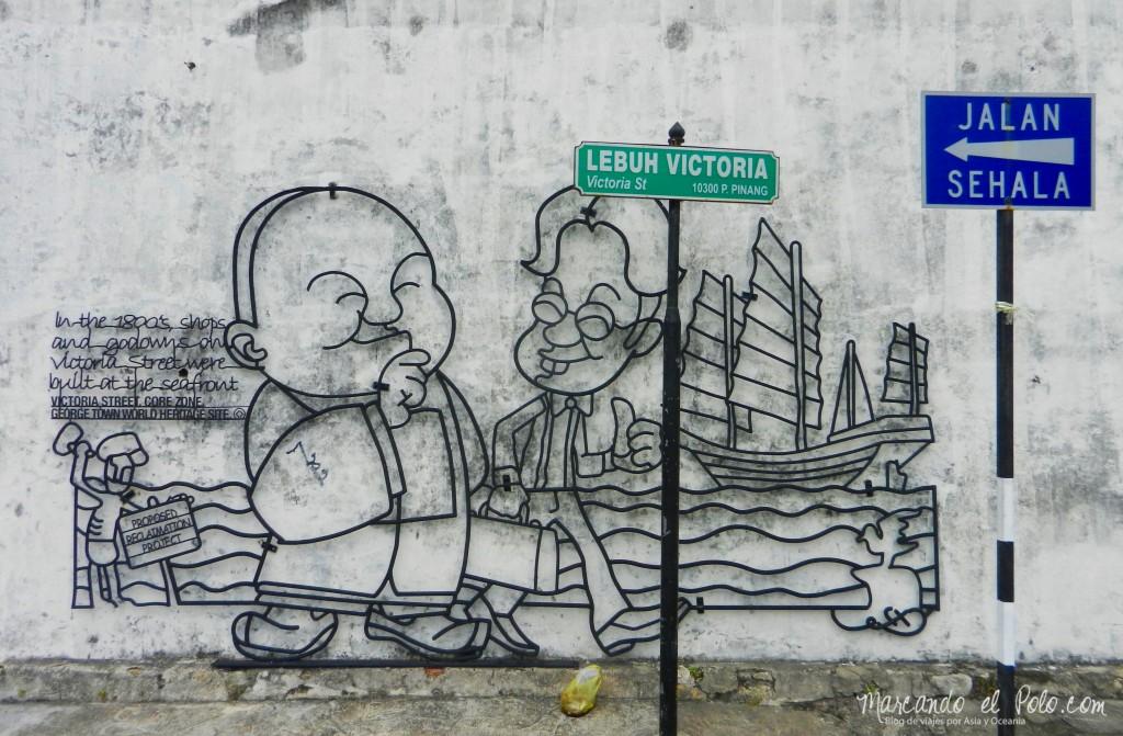 Arte callejero Penang, Malasia 17