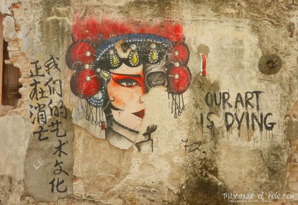 Arte callejero de Penang - Our art is dying