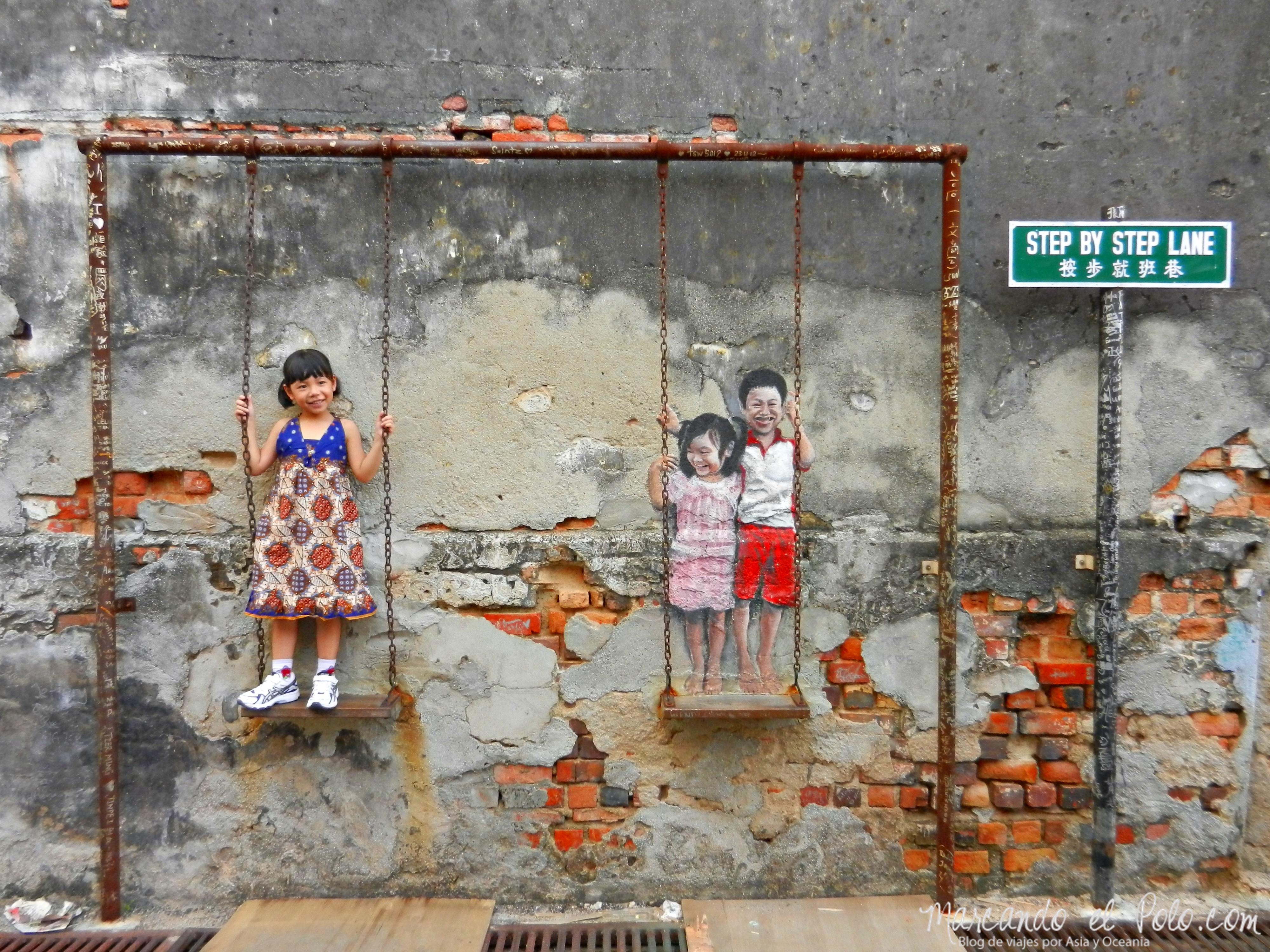 Penang donde las paredes hablan marcando el polo - Fotos en la pared ...