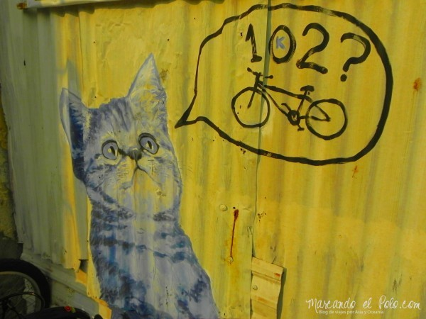 Arte callejero de Penang - Gatos