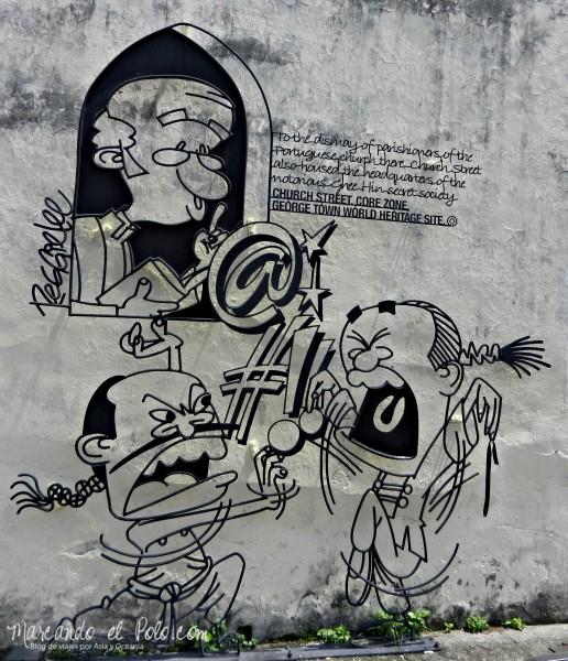 Arte callejero Penang, Malasia 5