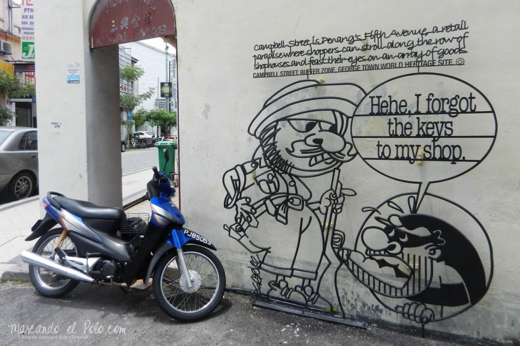 Arte callejero Penang, Malasia 6