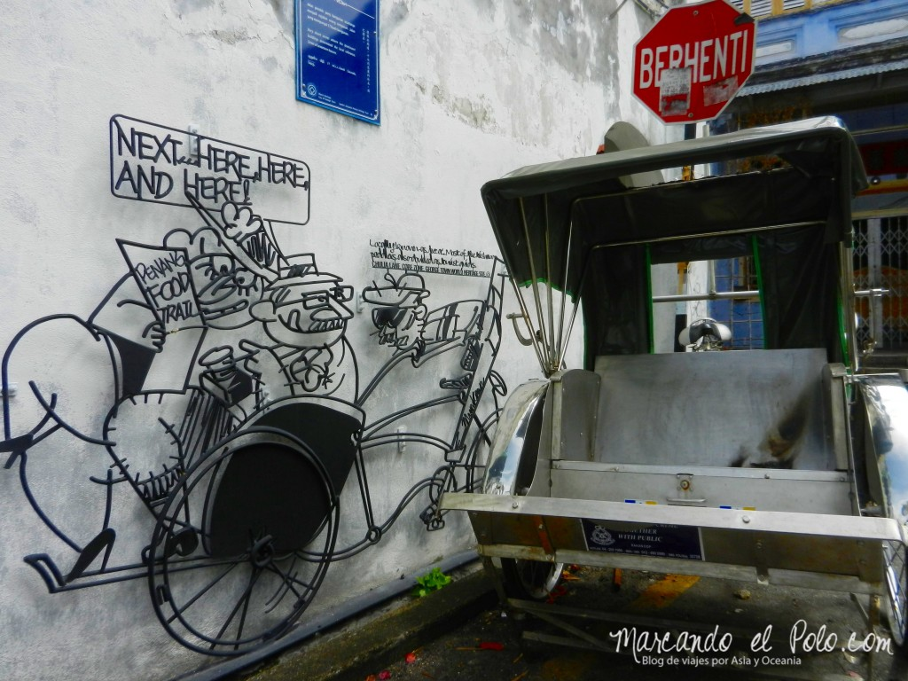 Arte Callejero - Tricycle - Penang - Malasia