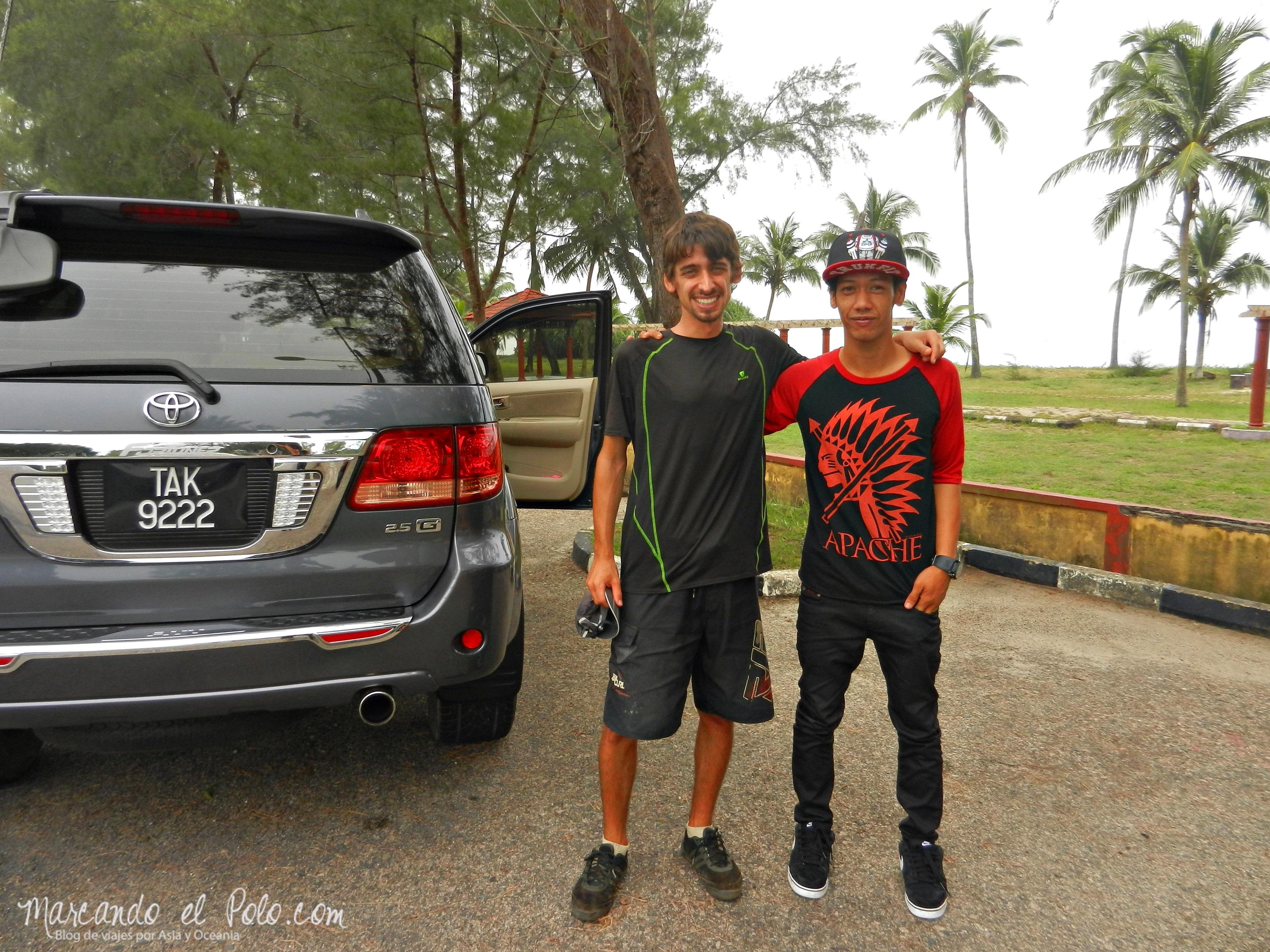 El hijo de un rico empresario de Terenggannu, quien asegura que es campeón internacional de skate.