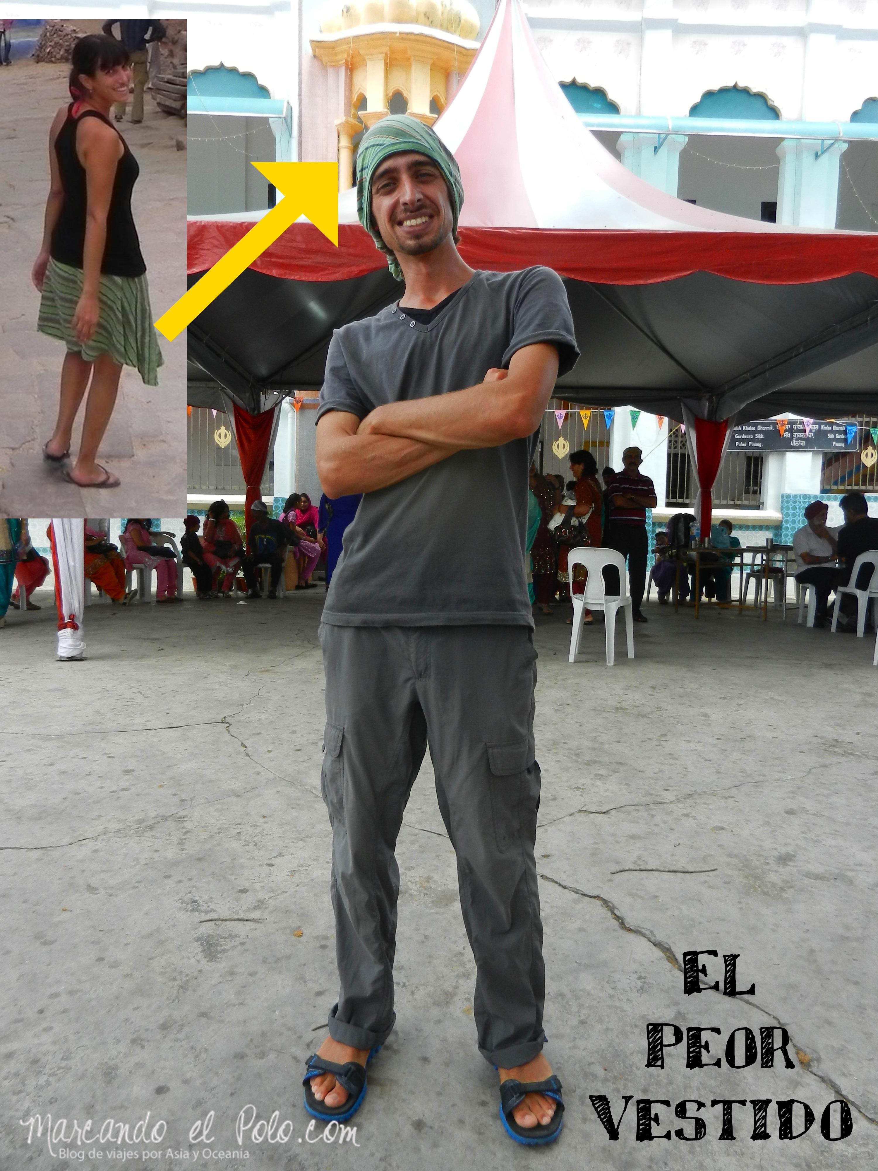 "Juan Caldaroni, alias ""Jota"", que a falta de turbante se puso una pollera en la cabeza!!!"